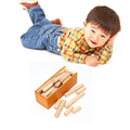 Montessori Wooden Toy Wood Block Intelligence Brain Teaser Toys How to Put 21pcs Sticks into Box Birthday Gift Christmas Present