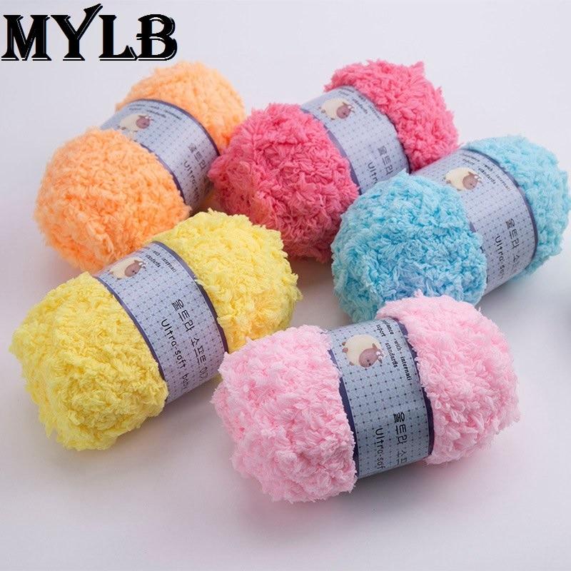 1ball=50g Silk Velvet Baby Velvet Bobbi Baby Wool Yarn Baby Wool Nanoscale Wool Lovely Luster Home & Garden Apparel Sewing & Fabric