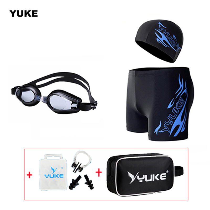 New 2015 SSW-01M men's swimming shorts  + one swimming cap +swimming goggles /set goggles waterproof and anti-fog