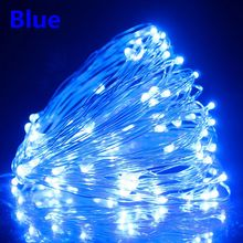 5/10/20M 50/100/200LEDs Solar String Lamp Garland Copper Wire Fairy Lights For Christmas Tree Wedding Party Outdoor Decoration