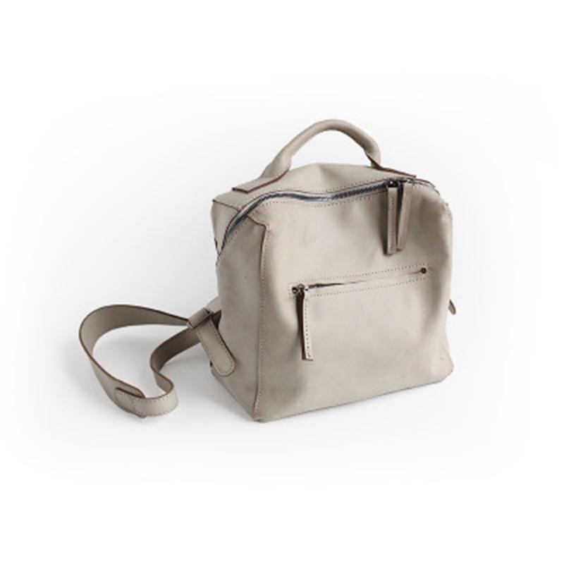 Vintage D'origine Mode À La Vendange Dos brown En Femme Cuir Boîte Sac Femelle grey green White Simple 2357 Black qddx0S