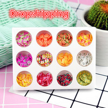 12 Type/Set Additives for Slices Hand DIY Fruit a child Filler  slime decoration Flavor Slime Lizun Supplies