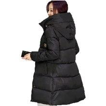 2016 Новая Зимняя Утолщение Женщины Парки Ватные Куртки Верхняя Одежда Мода Хлопка-ватник Средней длины Пальто pw0460