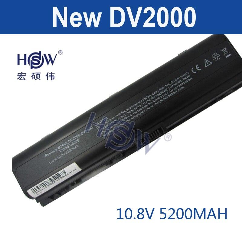 HSW Batterie Pour HP Pavilion DV2000 DV2700 DV6000 DV6700 DV6000Z DV6100 DV6300 DV6200 DV6400 DV6500 DV6600 HSTNN-LB42 bateria