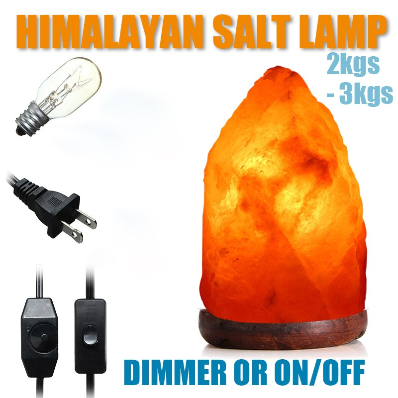 Himalayan Crystal Rock SALT LAMP Natural Pink Crystal Available Night Light Air Purifier 2-3KG oygroup mini hand carved natural crystal himalayan salt lamp night light cylinder shaped illumilite lamp salt light oy17nl02