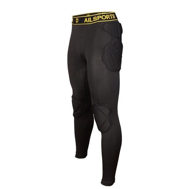 Регби вратарь футбольные майки тренировочные штаны наколенники EVA губка футболка для американского футбола наколенники защита голени сноуборд шлем - Цвет: black pants