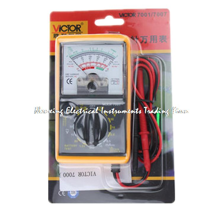 VICTOR 7001 VC7001 Analogue Analog Multimeter Portable MULTITESTER Electrical Meter Ammeter Voltmeter clearaudio professional analogue toolkit