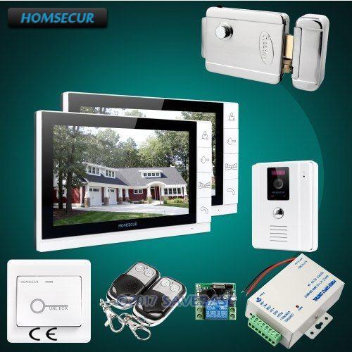 HOMSECUR 9 Video Door Phone Intercom System with IR Night Vision 1C2MHOMSECUR 9 Video Door Phone Intercom System with IR Night Vision 1C2M