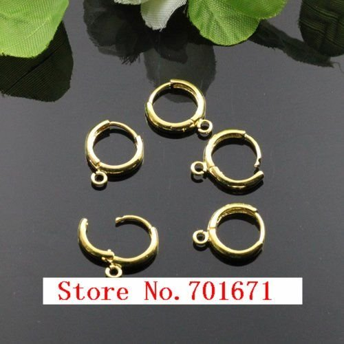 Free Shipping 16MM x 14MM Earring Hoops With Earring Hoop Findings,Earring Hooks, Earring Findings S44-2
