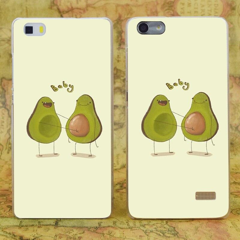 E2232 авокадо Детские прозрачные жесткий тонкой кожи, чехол для Huawei P 6 7 8 9 lite плюс Honor 6 7 4c 4x G7