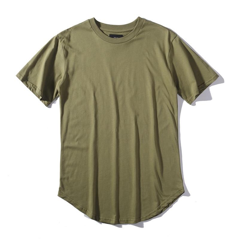 HIPFANDI 2018 Yaz erkek T Gömlek Kanye West Genişletilmiş T-Shirt - Erkek Giyim - Fotoğraf 2