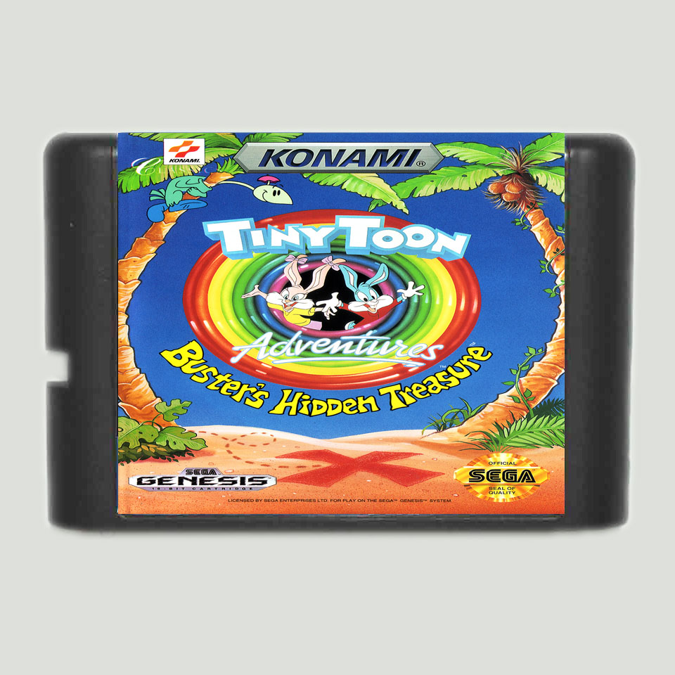 Tiny Toon Adventures 16 bit SEGA MD Game Card For Sega Mega Drive For Genesis
