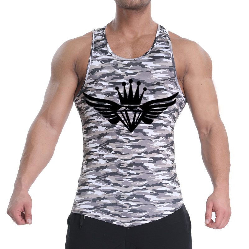 2018 New   Tank     Top   Fitness Men Compression Shirt Clothing Bodybuilding Stringer Breathable Casual   Tank     Tops   Jersey