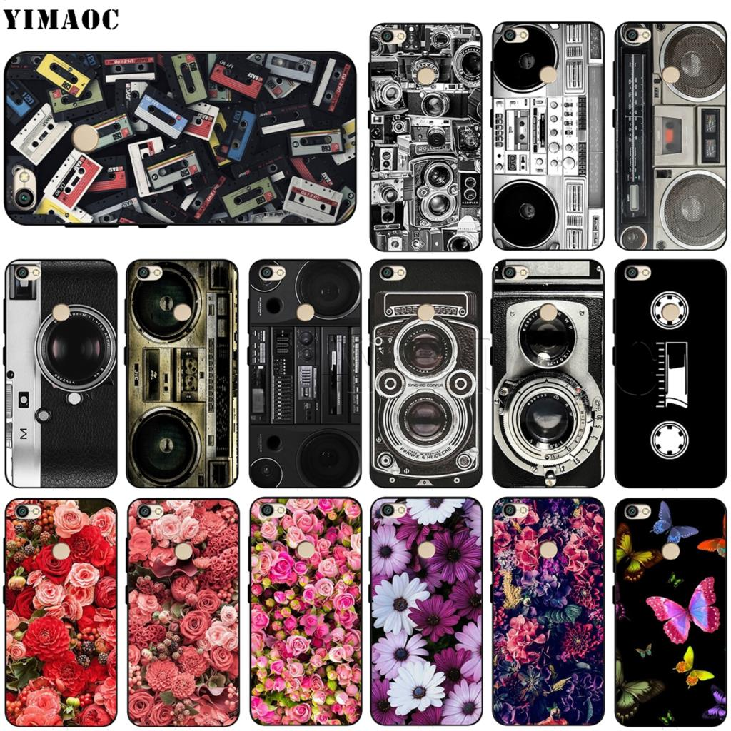 YIMAOC Vintage Camera Boombox Soft Silicone Case for Xiaomi Redmi Note 4 4X 4A 5 5A 6 MI A1 mi6 Prime Plus