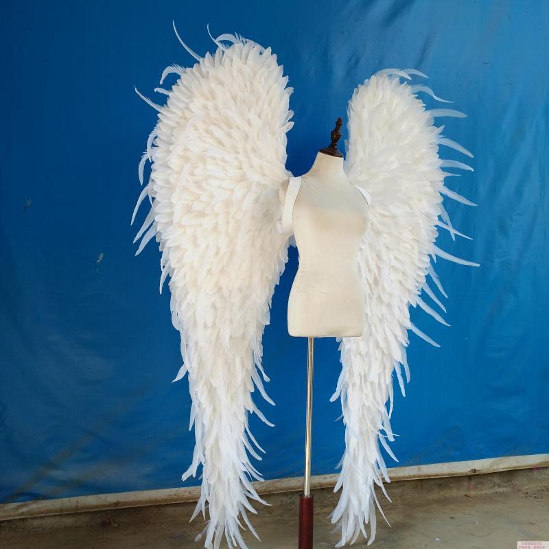 Bling Blanc ou noir Angle Ailes Props Cosplay photographie Affichage De Jeu Game Party Mariage wing costume catwalk soutiens