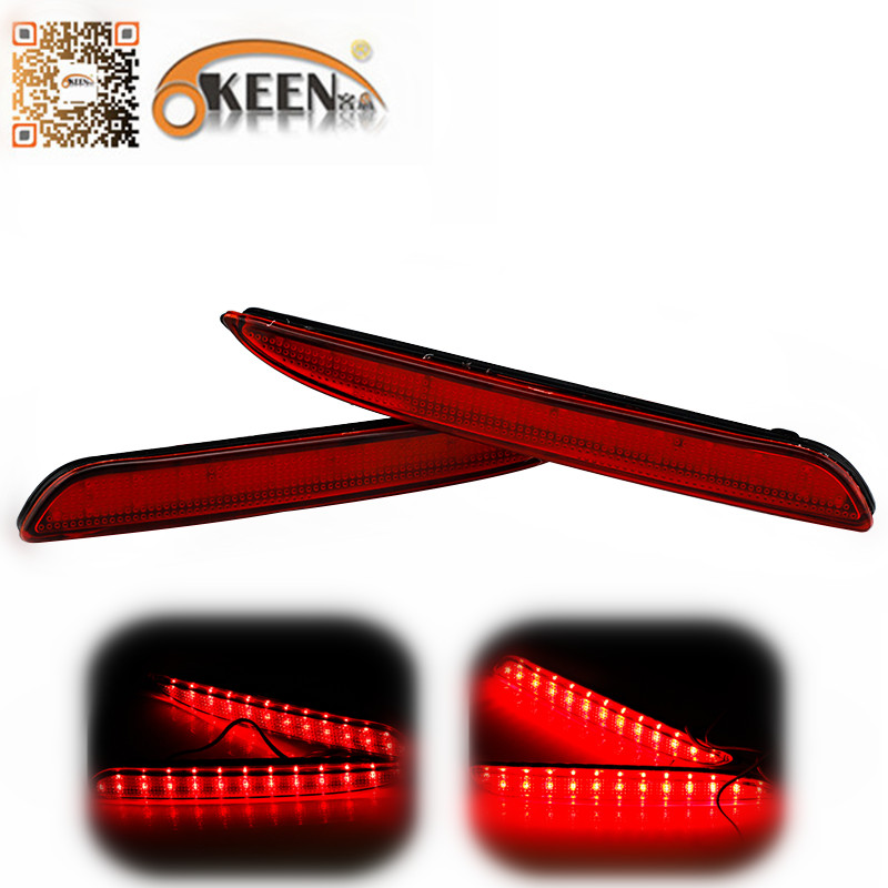 Auto Red Lens Rear Bumper Reflector Light For Mazda 3 Accessories LED Parking Warning Brake Stop Fog Lights Tail Reflectors Lamp universal brake lights 48 led red car auto third brake lights fog stop rear tail warning lamp bulb for dc12v parking