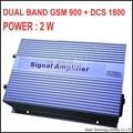 3000sq metros 2 W GSM DCS 1800 MHZ de alta ganancia de REFUERZO de DOBLE BANDA GSM + DCS repetidor DCS booster, 1800 mhz repetidor DCS amplificador de SEÑAL