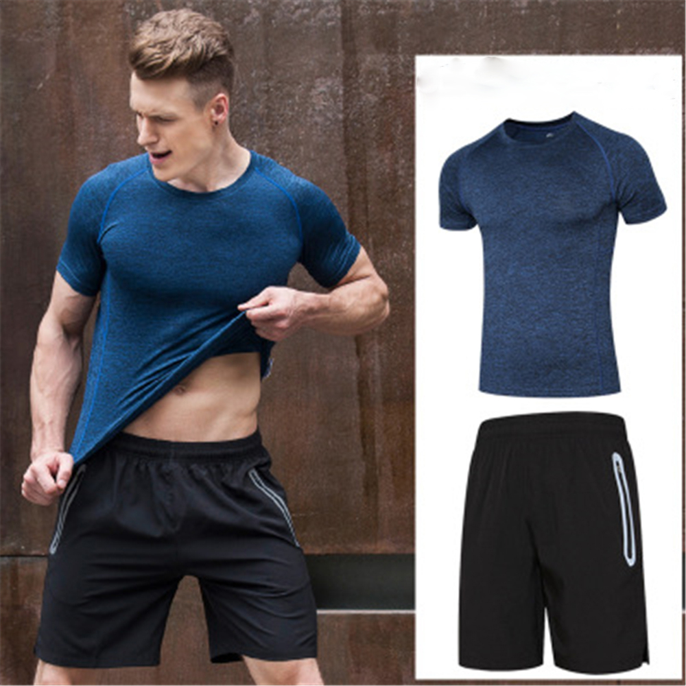 Men Sport Suits Fitness Gym Sets Running Sportswear Training Basketball Soccer Wear Jogging Clothing Deportivos T