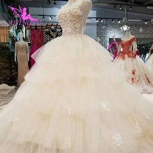 Image 5 - Платье с длинным шлейфом AIJINGYU, винтажное платье в стиле бохо, кружевное свадебное платье для невесты, индийское длинное платье с открытой спиной, античные свадебные платья