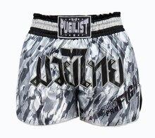 Pugilist selvagem camuflagem calças muaythai mma shorts de combate musculação artes marciais formação boxers