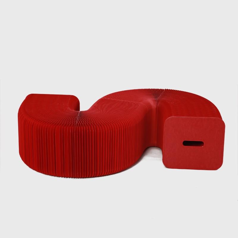 Taburete plegable Muebles de papel de protección ambiental Ahorre - Mueble - foto 3