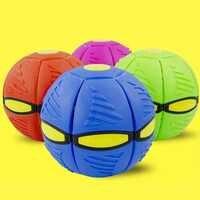4 Type jardin extérieur plage jeu lancer disque balle jouet couleur aléatoire fantaisie doux nouveauté volant UFO plat lancer disque balle jouet enfant
