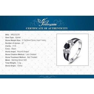 Image 5 - JewelryPalace Genuíno Preto Spinel Anel 925 Anéis de Prata para As Mulheres Anel De Noivado De Prata Esterlina 925 Pedras Preciosas Jóias Finas