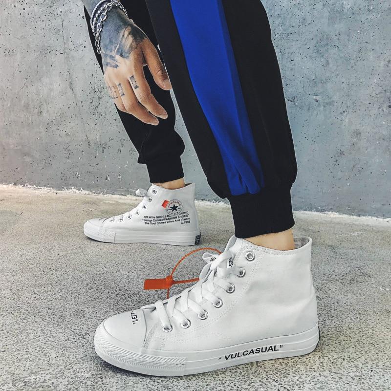 2019 Nouveaux Hommes Et Femmes Sneakers High_Top à lacets confortable femelle chaussures décontractées Mode Plate-Forme de Denim chaussures de toile