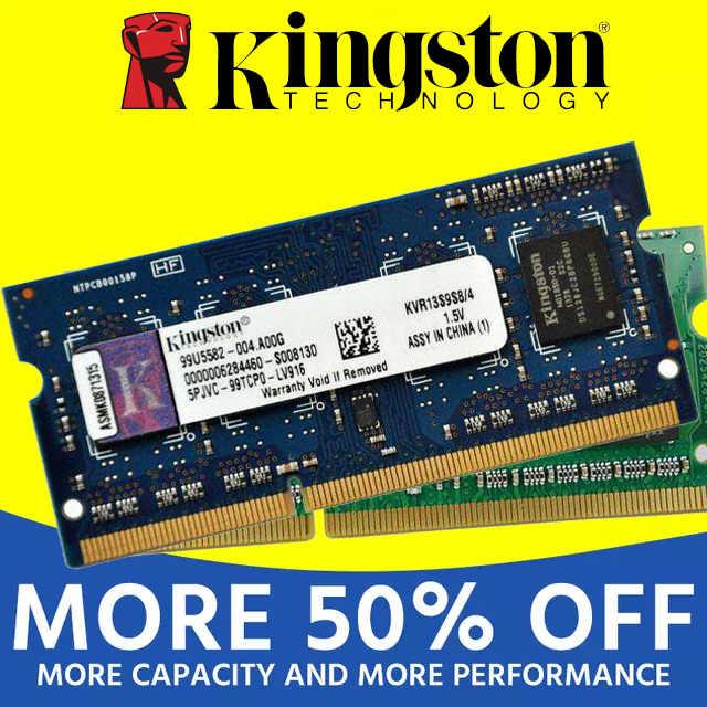 キングストンノートパソコンの RAM DDR2 800 667Mhz PC2-5300S pc2 5300 DDR3 1333 1600Mhz 1 ギガバイト 1 グラム 2 ギガバイト 2 グラム 4 ギガバイト 4 グラム (2 個 * 2 ギガバイト) PC3 10600