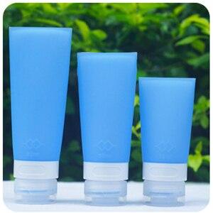 Image 5 - 38/60/80 ミリリットルポータブルシリコーンミニ旅行ボトルカラフルな空の透明なチューブ化粧品クリームローションコンテナ詰め替えボトル