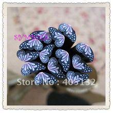 D-04 100 шт. 5 мм розовый Половина крыло бабочки Кане Необычные Дизайн ногтей Полимерная глина Кейн