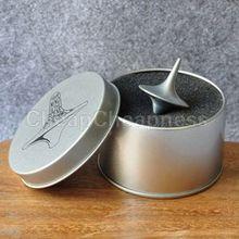 Мини большой цинковый сплав серебро волчок от Тотем из кинофильма начало фильм детские игрушки с розничной металлической коробкой Рождественский подарок