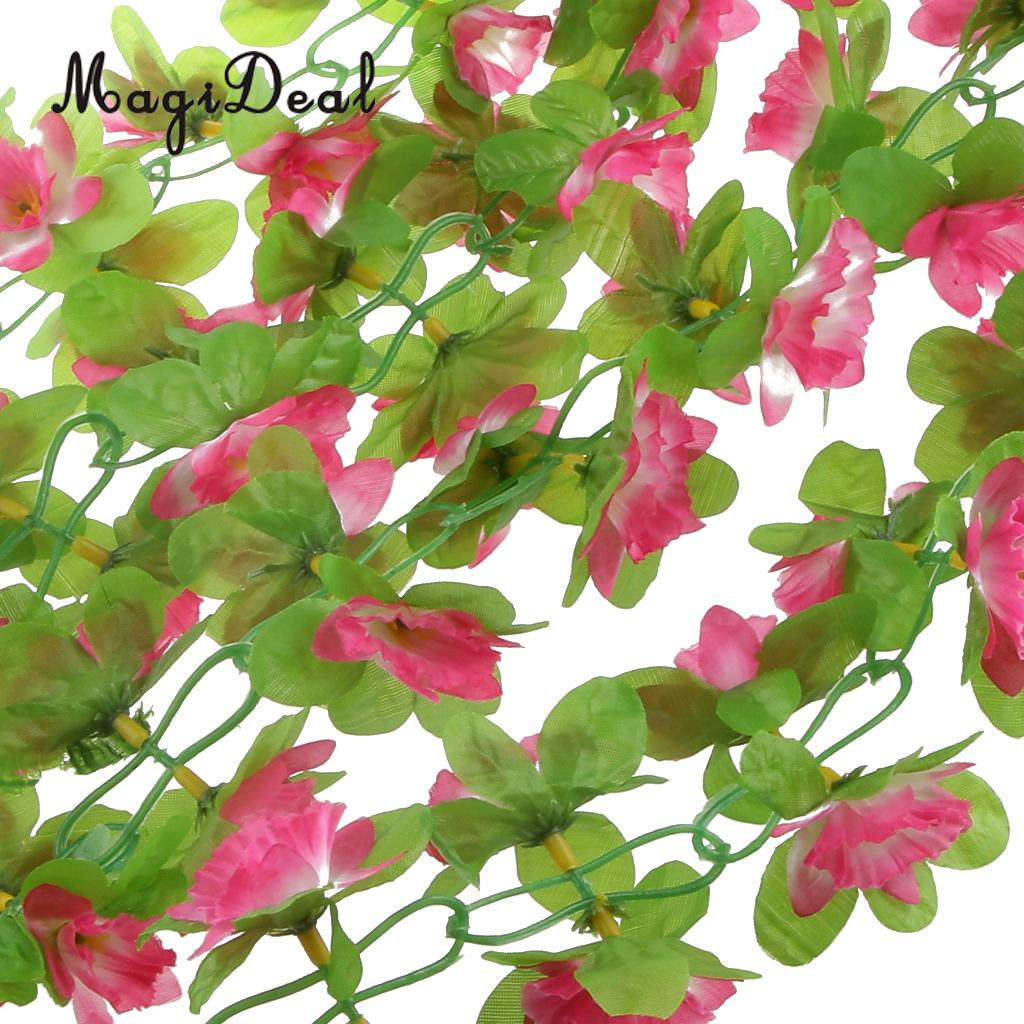 Magideal Artificial Silk Daffodil Flower Vine Hanging Garland Home