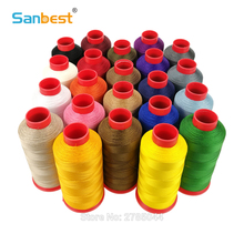 Sanbest High Tenacity Bonded Nylon Thread TEX70 Tkt40 210D/3 1500Y Multi-filaments Sewing Nylon66 for Footwear Leather