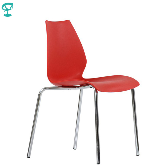 95465 Barneo N-234 Plastic Kitchen Interior Stool Chair for a Street Cafe Chair Kitchen Furniture Red free shipping in Russia