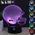 HY 14 Teams 3D Football Helmet Lamp Remote Control 7 Colors Changing Desk Table Night Lights LED Home Decoration For Gifts