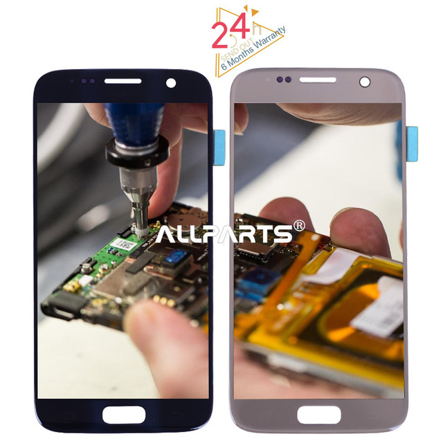 Tested 5.1'' Super AMOLED Screen for SAMSUNG Galaxy S7 LCD Display G930 G930F SM-G930 Touch Screen Digitizer Replacement Parts