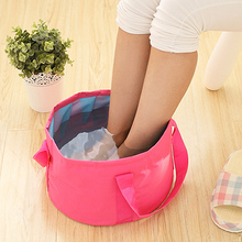 Portable Outdoor Camping Fishing Ultra-Light Folding Basin Travel Sport Washbasin Holding Hot Water 8.5L Collapsible Mini Bucket