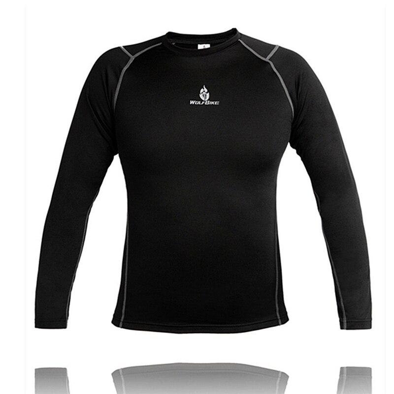 Цена за WOLFBIKE Мужчины и Женщины Спорта На Открытом Воздухе Термобелье Топ Зима Теплая Долго Флис Cyling Майки футболки Clothings