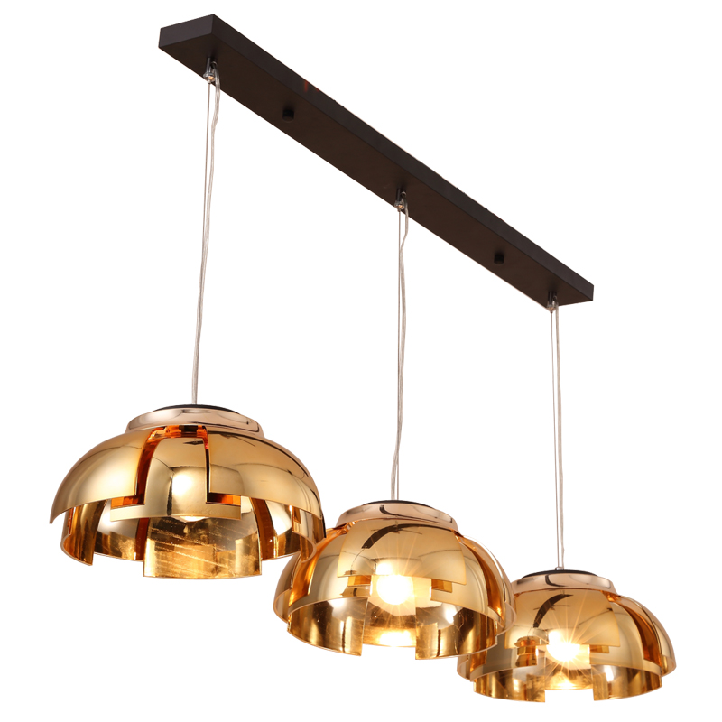 Modern Dining Room Pendant Light 3 Heads black gold luxury Ceiling Plate Indoor Living Room Bedroom Decoration Lamp E27 LED bulb 1 light simple modern cloth matal led pendant light for bedroom dining room living room bulb included white black gold silver
