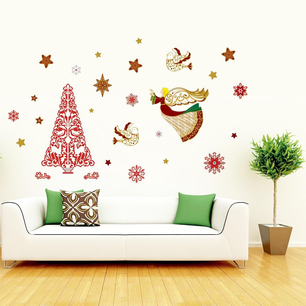 Weihnachten 3D tapete wohnzimmer wand landschaftsbau wandaufkleber ...
