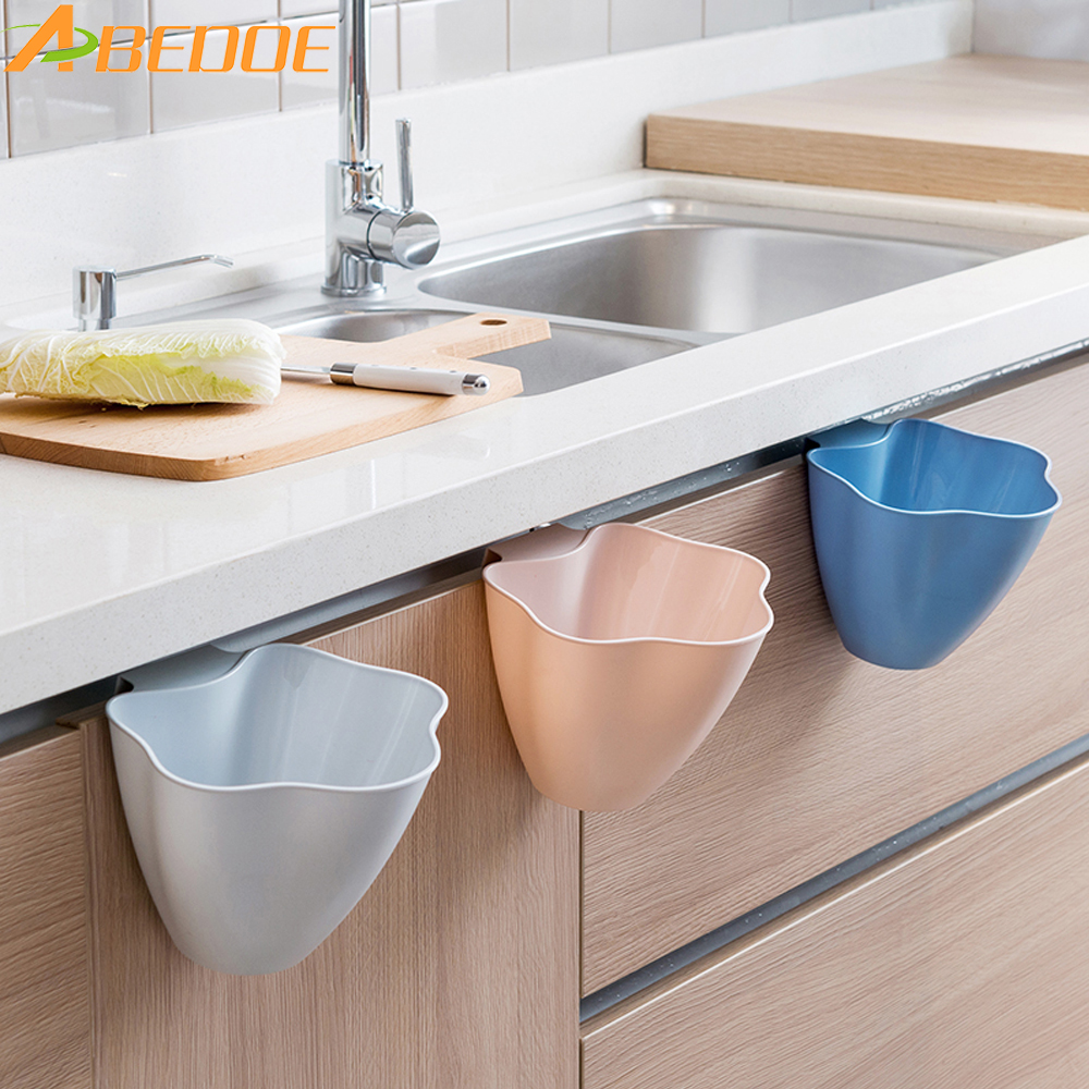 ABEDOE Kitchen Trash Can Hanging Storage Basket Multifunction Desktop Storage Box Plastic Storage Bucket