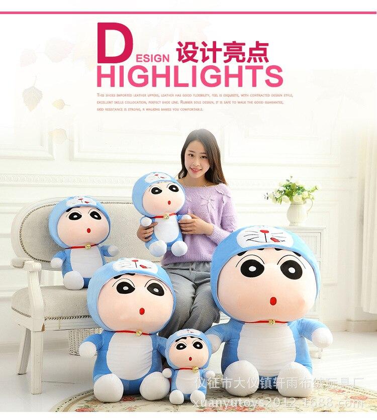 anime Crayon Shin-chan turned to doraemon plush toy doll birthday gift w5180