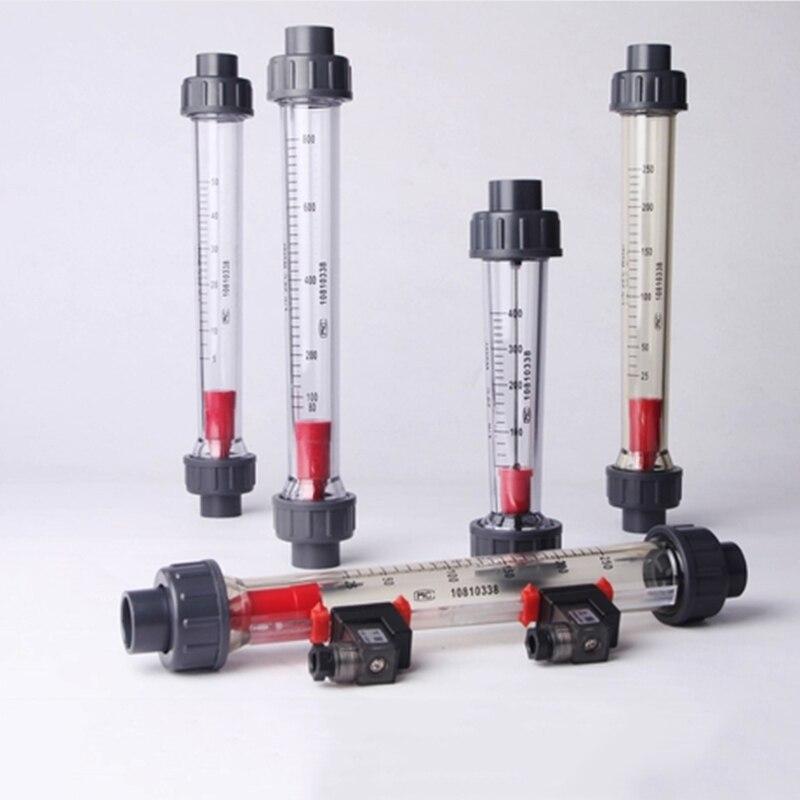 US $3 22 |6 60L/H 10 100L/H 20mm Inner Diameter Socket Plastic Piping Type  Liquid Float Flowmeter Water Flow Meter Rotameter Length 200mm-in Valve