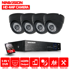 4CH CCTV Security Camera System HD 4MP AHD DVR 4PCS 4.0MP indoor Dome CCTV Camera System 4 Channel Video Surveillance Kit