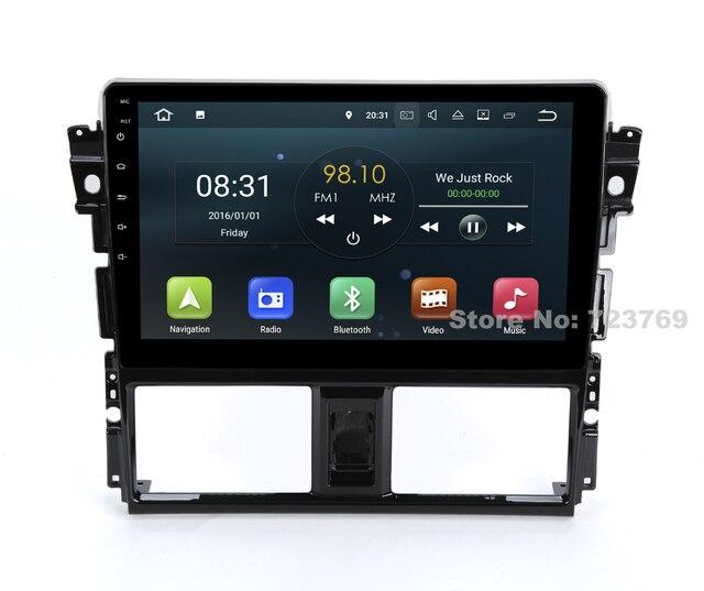 DVD de voiture pour Toyota Vios Yaris berline 8.0   4G de RAM, Android 2014, système de Navigation GPS, lecteur média, système Audio vidéo stéréo