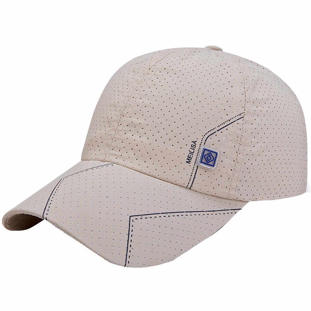 2019 модная летняя бейсболка женская мужская сетчатая дышащая круглая Кепка унисекс регулируемые спортивные шляпы шляпа папы костяная