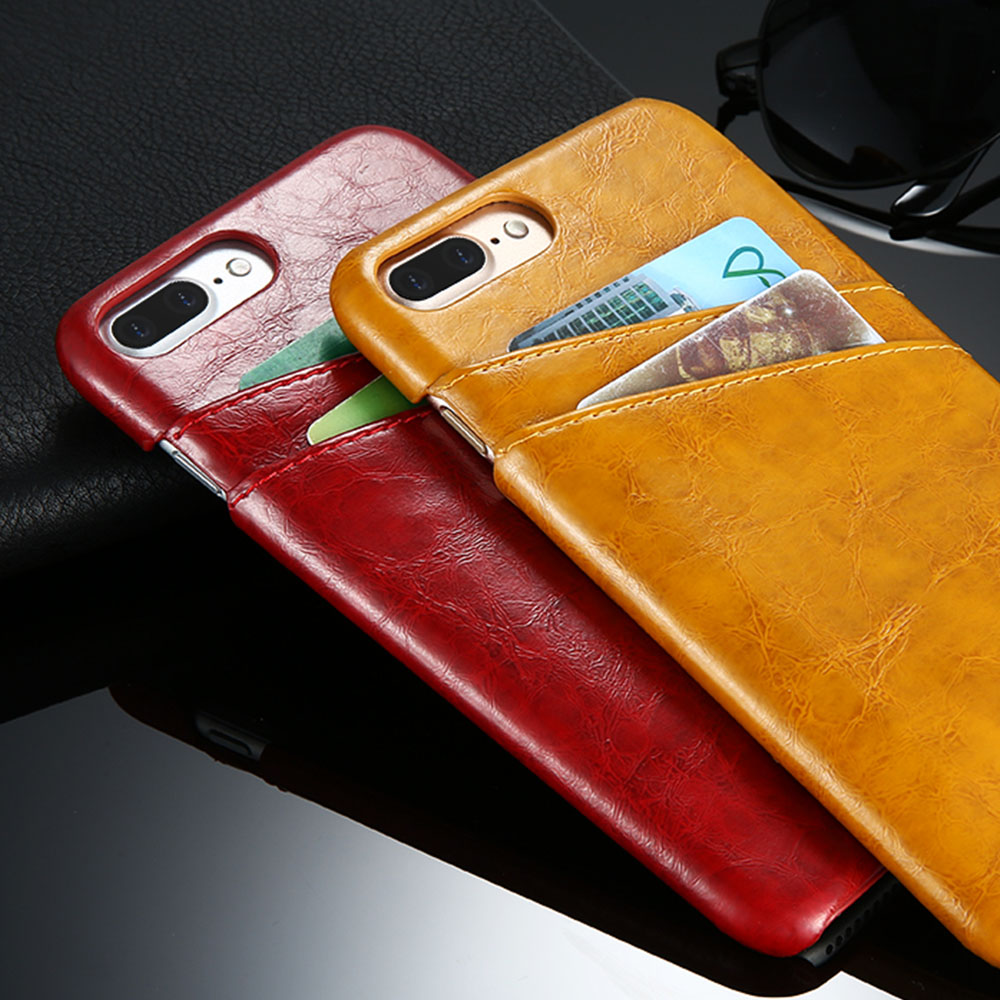 FLOVEME Card Holder Cover For iPhone X 10 PU Leather Case For iPhone 8 7 Plus 5 5S Quality Back Cover For iPhone 6 6s Plus Cases