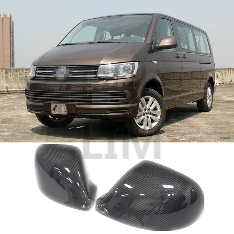 For Volkswagen VW T5 Transporter 2012-2017 Carbon Fiber Side Door Mirror Wing Mirror Cover Cap Sticker Car Styling Accessories