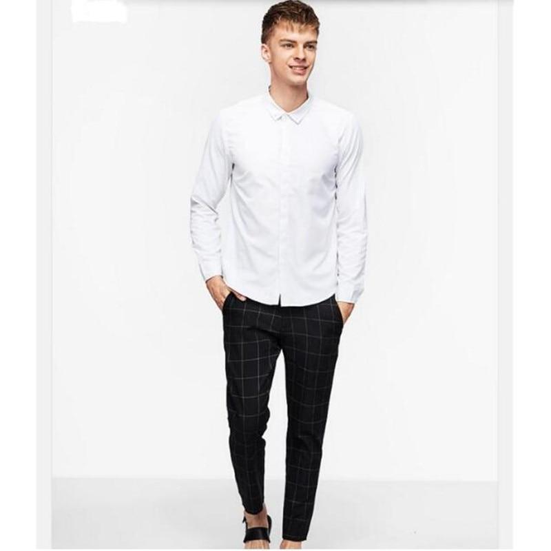 high quality men shirt fashion groom wedding shirt custom made white sunshine handsome leisure shirt long sleeve